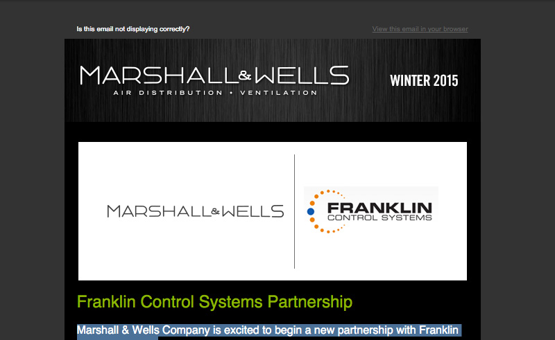 Marshall Wells Newsletter Winter 2015