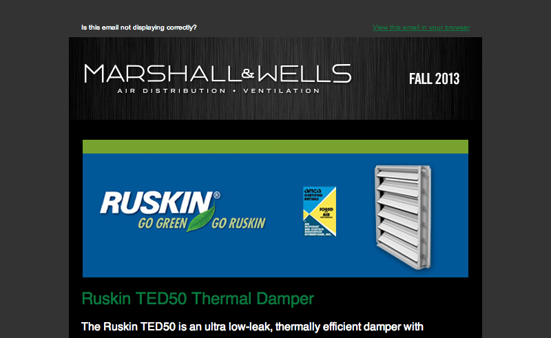Marshall Wells Newsletter Fall 2013